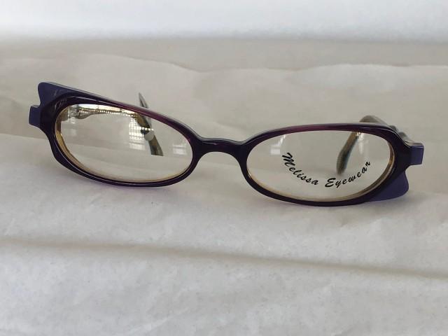 ME-78 Women Eyeglass Frame, Unique Shape, Made In France