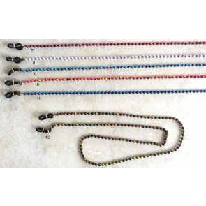 Graffiti  & Neon Eyeglass Chain, Enameled Colorful Metal